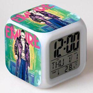 Coloré cadeau de noël jouets fonction d'horloge affichages numériques figurines accessoire enfants lumineux alarme numérique réveil LED veilleuse