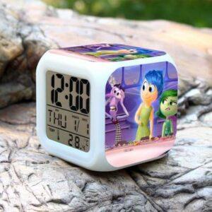 Dessin animé Enfants réveil 7 Table de Couleur numérique Horloge électronique réveil Lampe Affichage LED réveil