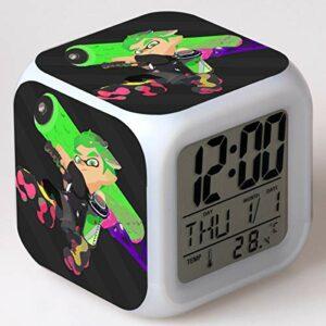 Dessin animé Jouet Enfants réveil LED Changement de Couleur Horloge électronique Se réveiller la Nuit Cadeau Lueur Version électronique