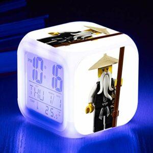Dessin animé réveil Enfants Jouet Film maître réveil LED Horloge numérique réveil lumière Montre réveil