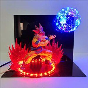Dragon Ball Z cheveux rouges Goku Figure boule d'esprit scènes LED veilleuse décorative Super Saiyan Goku LED Lampara lumière de bureau cadeaux