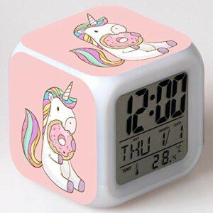 Fonction affichages numériques cadeaux de noël jouets horloge rougeoyante alarme numérique chiffres accessoire enfants Led réveil veilleuse
