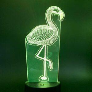 Lampe 3D Flamingo Veilleuse Pour Enfants Cadeau Salon Lumière Rouge Pour 7/16 Couleur Veilleuses Led Veilleuse