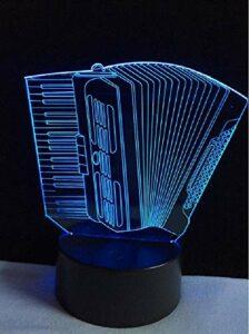 Lampe de table 3D en forme d'accordéon créative LED USB veilleuse d'ambiance multicolore tactile ou lampe de table à changement à distance