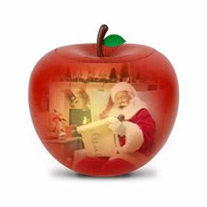 LED Lampe De Projection De Lampe De Projecteur Apple De Noël Avec Lumière Et Son Dialogue Audio Animation Projecteur Intégré Et Haut-parleur Cadeau Pour Enfants Pour Les Réunions De Famille De Fête
