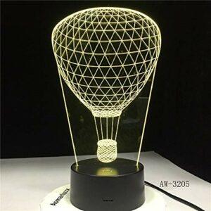 Leeypltm 3D Lampe Illusion Optique LED Veilleuse,Forme de ballon lampe de table USB à commutateur tactile changeant progressif à 7 couleurs pour ou les décorations pour la maison