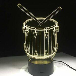 Leeypltm Veilleuse 3D Illusion Batterie CouleursTactile Lampe de Chevet ChambreTable Art Déco Enfant Lumière de Nuit