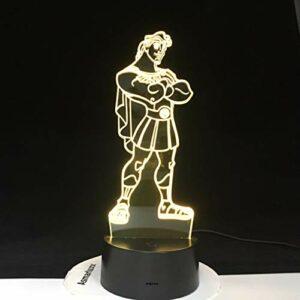 Leeypltm Veilleuse 3D Illusion LED,Prince Princesse Cartoon 7 Couleurs Changer Décor lampe avec USB Actionné Tactile Veilleuses pour Enfants Garçons et Filles Cadeaux D'anniversaire