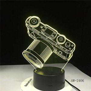 Leeypltm Veilleuse LED 3D Lampe Caméra LED Veilleuse 7 Couleurs Tactile Interrupteur USB Lampe,Enfants Cadeau