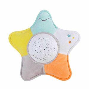 Minear Jouet apaisant pour bébé avec veilleuse en forme d'étoile de mer en peluche, projecteur de lumière blanche de bruit, jouet pour bébé, cadeau pour bébé
