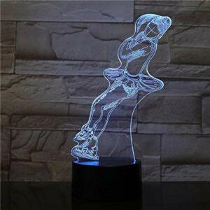 Modèle de patinage à roulettes créatif 3D LED veilleuse bébé enfants cadeau d'anniversaire décoration de la maison lampe de table