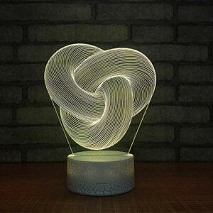 Motif extraterrestre Veilleuse 3D pour Enfants,Lampe LED USB Veilleuse Illusion lumière de Table aux Couleurs Changeantes avec Télécommande pour Enfants Adultes Chambre Décor