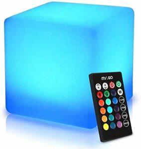 Paddia Télécommande LED Light Up 16 couleurs RVB Changement Cube Tabouret Led Veilleuse Tabouret Scène Décoration lumineuse Salon Intérieur Xmas Party de mariage lampe extérieure de nuit Mood Light fo
