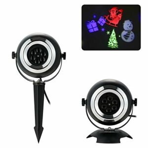 Peng sounded Projecteur LED Star Light Lampe De Pelouse De Lumière De Projecteur De 240V 4 LED étanche avec TélécommandeLampe De Projection Musicale pour Les Enfants
