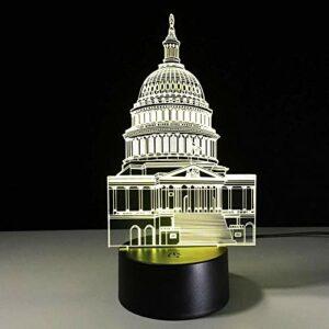 Petite veilleuse 3D LED petite veilleuse 3D petite lampe de table interrupteur tactile créatif éclairage LED USB