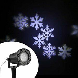 Projecteur LED Star Light Projecteur étanche Lumière Automatiquement LED Flocons De Neige En Mouvement Projecteur Lampe Mur Et Arbre Noël Vacances Lumière Décorative Star Night Lights Pour Les Enfants