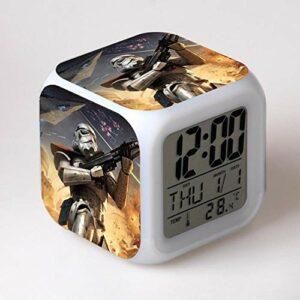 Réveil numérique pour enfants Guerres des étoiles 15 Réveil, réveil numérique, horloge de table de veilleuse mignonne, cadeau de Noël d'alarme de chambre/sommeil