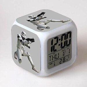 Réveil numérique pour enfants Guerres des étoiles 6 Réveil, réveil numérique, horloge de table de veilleuse mignonne, cadeau de Noël d'alarme de chambre/sommeil