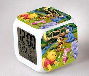 Réveil numérique pour enfants Ours 11 Réveil, réveil numérique, horloge de table de veilleuse mignonne, cadeau de Noël d'alarme de chambre/sommeil
