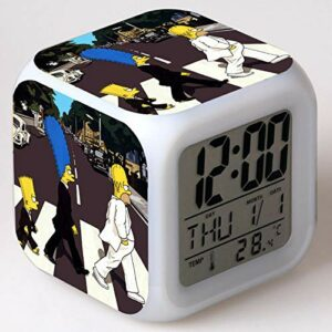 Réveil veilleuse Led réveil affiche numérique enfants cadeau de noël enfants mignon jouets accessoire dessin animé réveil