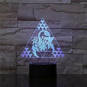 Scorpion multicolore modélisation créative 3D veilleuse LED lumière intégrée chambre USB lumière cadeau créatif éclairage bureau décoration lampe de table