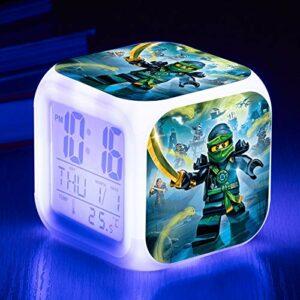 shiyueNB Film de Dessin animé réveil pour Enfants Appel invité Jouet Cadeau réveil numérique lumière et Ombre Horloge de Table LED reloj despertador 48