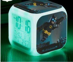 shiyueNB Film LED réveil Chambre Lumineuse 7 Couleurs Clignotant Horloge numérique reloj Montre ArmyGreen