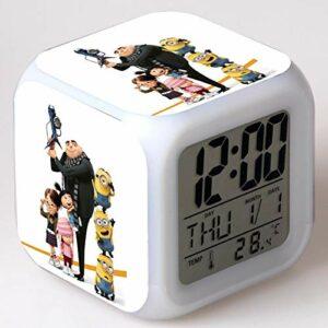 shiyueNB Réveil de Dessin animé Jouet pour Enfants LED reloj despertador réveil numérique Montre de lumière électronique Reveil Wekker 17