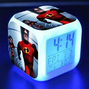 shiyueNB Réveil LED Dessin animé Enfants Jouet réveil numérique lumière LED Horloge Reloj Despertador Table Reveil Bureau Wekker 13
