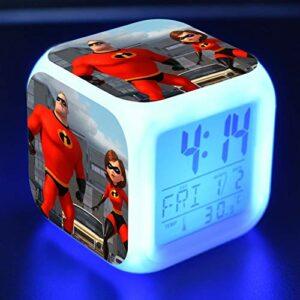 shiyueNB Réveil LED Dessin animé Enfants Jouet réveil numérique lumière LED Horloge Reloj Despertador Table Reveil Bureau Wekker 9