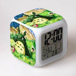 shiyueNB Réveil LED Dessin animé réveil numérique Enfant Jouet réveil lumière LED Horloge Reloj Despertador Montre réveil Montre Wekker
