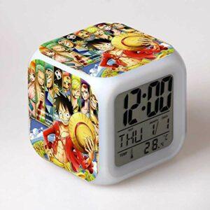 shiyueNB Réveil LED Dessin animé réveil numérique Lampe de Jouet pour Enfants Horloge LED Table Desertador Reveil Table Wekker 15