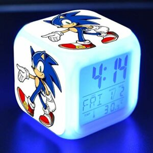 shiyueNB Réveil LED Dessin animé réveil numérique Lampe Jouet pour Enfants Horloge LED Reloj Despertador Table Reveil Table Wekker 22