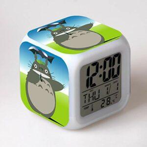 shiyueNB Réveil LED Dessin animé réveil numérique Lampe Jouet pour Enfants Horloge LED Reloj Despertador Table Reveil Table Wekker 25