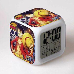 shiyueNB Réveil LED Dessin animé réveil numérique Lampe Jouet pour Enfants Horloge LED Table Desertador Reveil Table Wekker 22