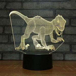 Syogo Veilleuse Animale Dinosaure 3D Lampe Illusion Led Chambre Cadeau Cadeaux De Vacances D'Anniversaire