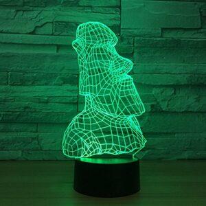 Touche colorée LEDnouveauté abstraite sommeil créatif 3D veilleuse USB atmosphère lumière cadeaux pour enfants lumières