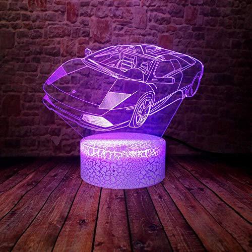 veilleuse 3d lampe de chevet enfant fille p upe Shift & 's Fête de décoration de cadeau d'anniversaire pour enfants Chargement USB tactile à 7 couleurs