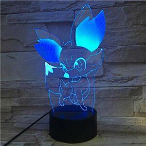 Veilleuse 3D Pokemon Go LED – Pour enfants – Décoration d'intérieur – Multicolore