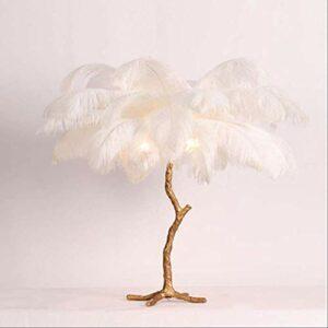 XULIWEN Veilleuse Lampe de table stylo style Europen Lampes lumineuses en cuivre modernes pour salon, blanc, blanc
