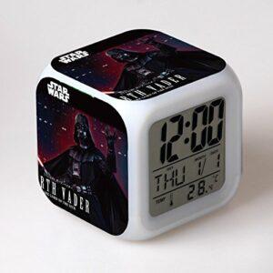 Yangoo Réveil Numérique Horloge de Chevet avec la Veilleuse LED Affichage de la 12H/24H Temps Horloge de Chevet Cadeaux Anniversaire Noël,F