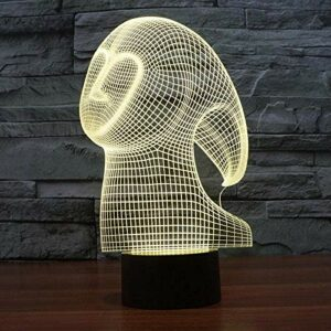 3D veilleuse pour enfants motif abstrait 7 couleurs lampe de Table convertible décoration de la maison lampe amis enfant cadeau sommeil éclairage