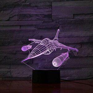 3D veilleuse sommeil lumière combattant 7 couleurs Vision bébé sommeil LED lampe de Table décoration de la maison éclairage lampe enfants cadeau