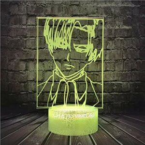 Animation créative personnage personnage vision 3D lumière multicolore fissure base LED lumière tactile base décoration veilleuse petite lampe de table