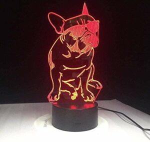 Art déco 3D veilleuse Led symphonie lumière 7 couleur changeante atmosphère lumière USB tactile décoration de la maison enfants noël cadeau d'anniversaire