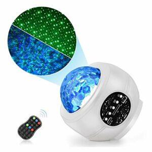 CUzzhtzy LED Projecteur Starry Sky, USB Bluetooth Romantique Coloré Starry Sky Sky Projection Night Light, Lumière de fête avec télécommande, adaptée à la Chambre/à la fête/à la Maison Décoration