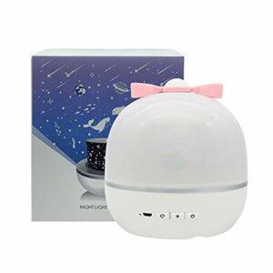 CUzzhtzy Music Projecteur Night Light, avec Haut-Parleur BT, USB Rechargeable Cosmic Sky Skyry Sky Lumière LED rotative, 6 Types de Motif de Film, Coloré Clignotant Stare Sky, Cadeau pour Enfants