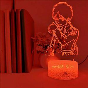 Décoration de voiture de luxe USB base de crack lampe de table 3D LED veilleuse cool acrylique décoration de Noël