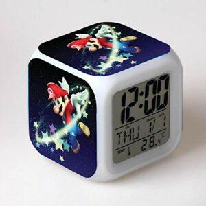 Enfants RéVeil Dessin Animé Horloge NuméRique RéVeil LumièRe Led Horloge Reloj Table RéVeil Table Wekke 9