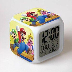 Enfants RéVeil Dessin Animé Horloge NuméRique RéVeil LumièRe Led Horloge Reloj Table RéVeil Table Wekker 12